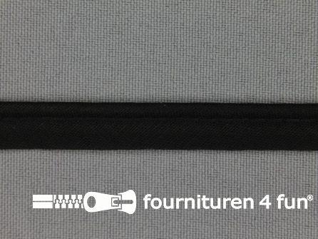 Rol 25 meter katoenen paspelband 10mm zwart