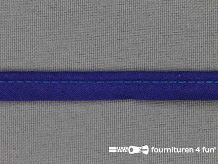 Katoenen paspelband 10mm kobalt blauw