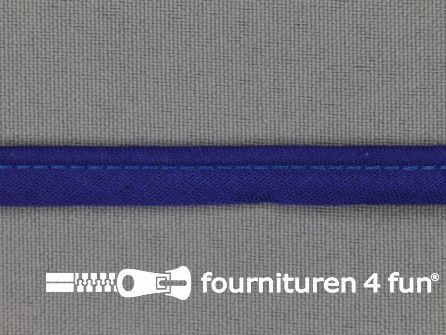 Rol 25 meter katoenen paspelband 10mm kobalt blauw