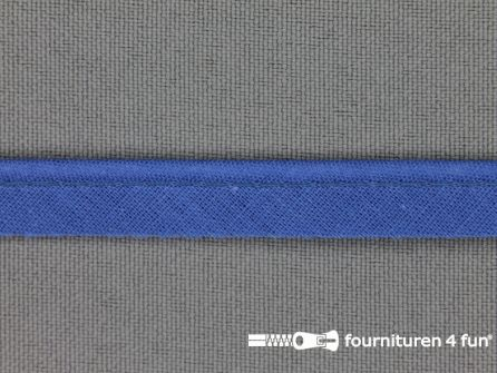 Katoenen paspelband 10mm jeans blauw