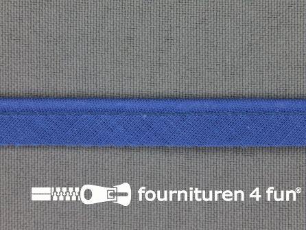 Rol 25 meter katoenen paspelband 10mm jeans blauw