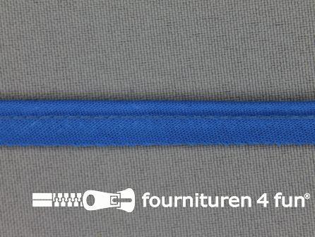 Katoenen paspelband 10mm koren blauw