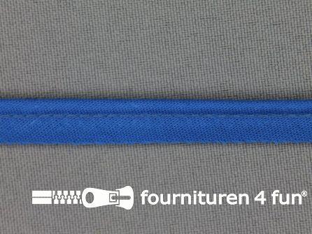 Rol 25 meter katoenen paspelband 10mm koren blauw
