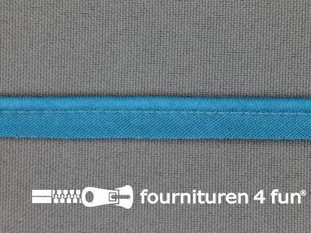 Katoenen paspelband 10mm turquoise