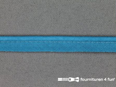 Rol 25 meter katoenen paspelband 10mm turquoise