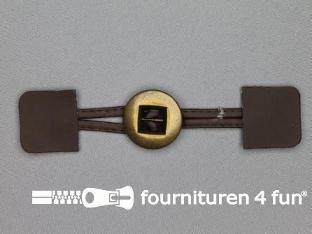 Siersluiting 35mm skai bruin - brons