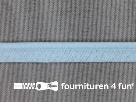 Katoenen paspelband 10mm licht blauw
