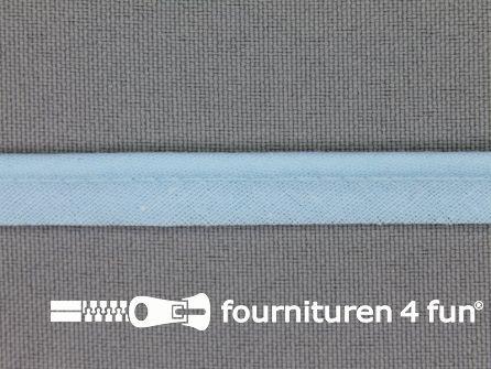 Rol 25 meter katoenen paspelband 10mm licht blauw