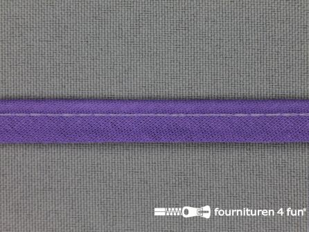 Katoenen paspelband 10mm milka paars