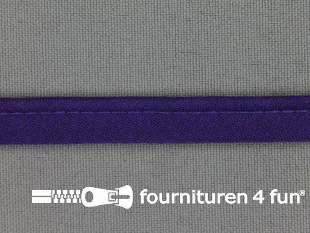 Rol 25 meter katoenen paspelband 10mm paars