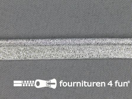 Lurex paspelband 10mm licht zilver