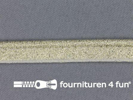 Lurex paspelband 10mm goud