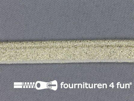 Rol 25 meter lurex paspelband 10mm goud