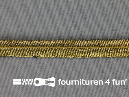 Lurex paspelband 10mm donker goud