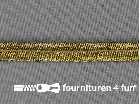 Rol 25 meter lurex paspelband 10mm donker goud