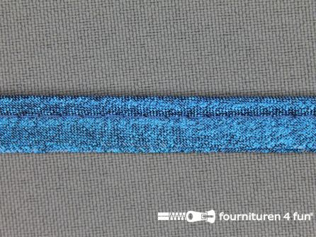 Lurex paspelband 10mm blauw