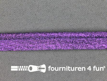 Lurex paspelband 10mm paars