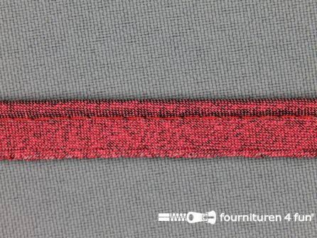 Lurex paspelband 10mm rood