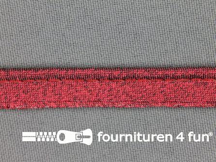 Rol 25 meter lurex paspelband 10mm rood