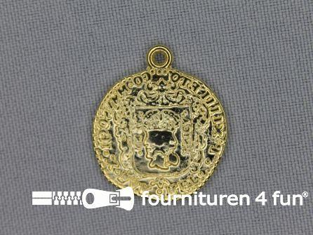Munten 24mm goud 5 stuks