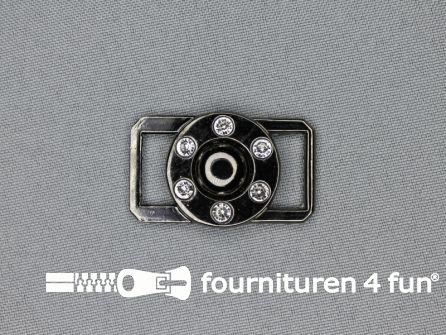 Strass stenen gesp 40mmx22mm haak - oog