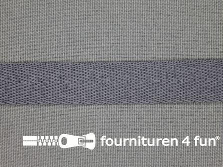 Nylon keperband 14mm midden grijs