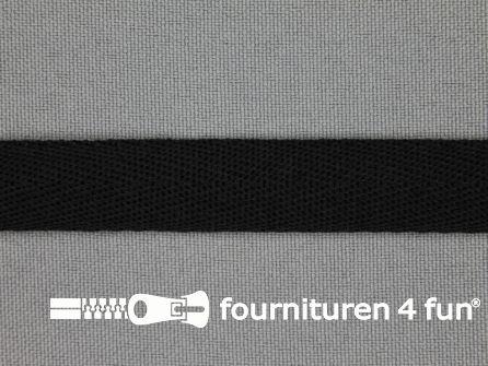 Nylon keperband 14mm zwart