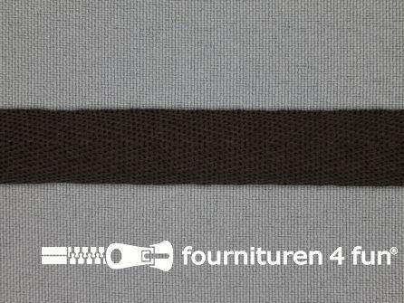 Nylon keperband 14mm donker bruin
