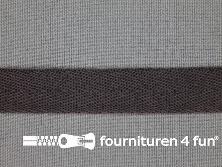 Nylon keperband 14mm donker grijs