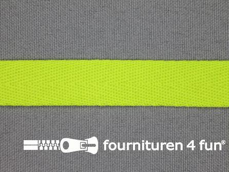 Nylon keperband 14mm neon groen