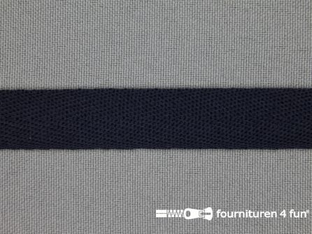 Nylon keperband 14mm marine blauw
