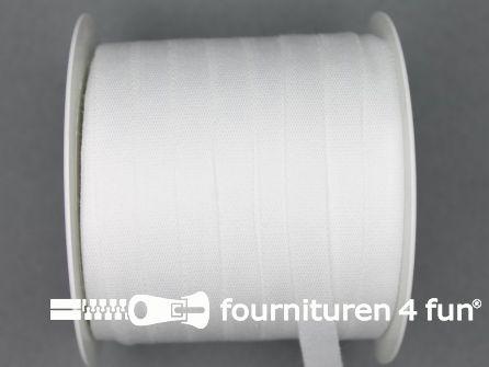 Rol 100 meter katoenen keperband 10mm wit
