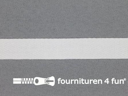 Bosje 5 meter luxe keperband 15mm wit