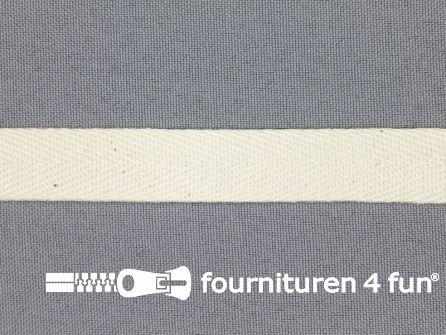 COUPON 18 meter Luxe keperband 15mm ecru