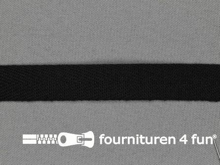 Bosje 5 meter luxe keperband 15mm zwart