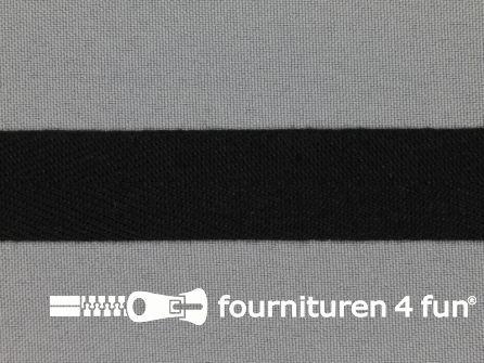 Luxe keperband 20mm zwart