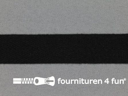 Rol 50 meter Luxe keperband 20mm zwart