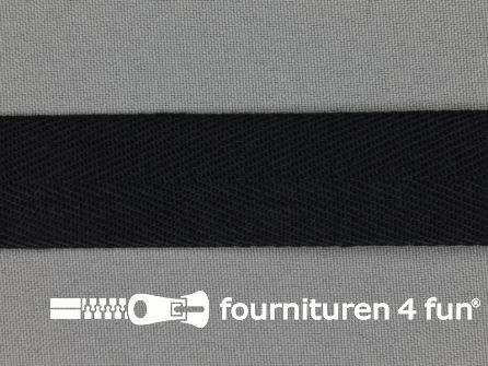 Luxe keperband 25mm zwart