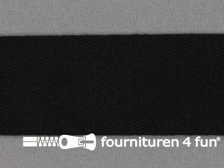 Luxe keperband 40mm zwart