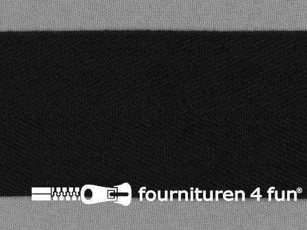 Luxe keperband 50mm zwart