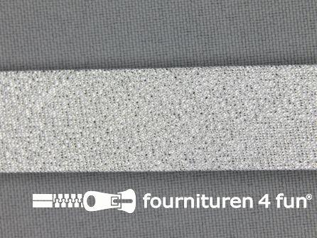 Lurex biasband 18mm zilver