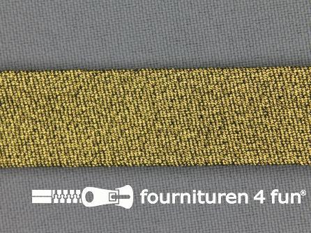 Lurex biasband 18mm donker goud