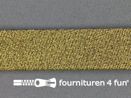 Rol 25 meter lurex biasband 18mm donker goud