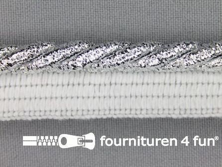 Rol 20 meter gedraaid paspelband 18mm zilver