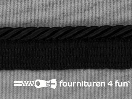 Gedraaid paspelband 18mm zwart