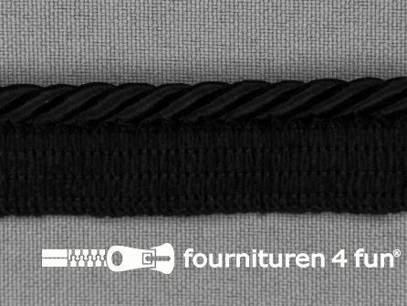 Rol 20 meter gedraaid paspelband 18mm zwart