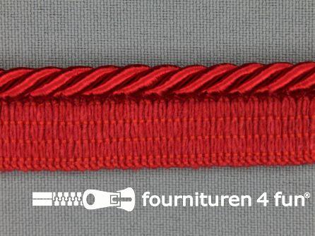 Gedraaid paspelband 18mm rood