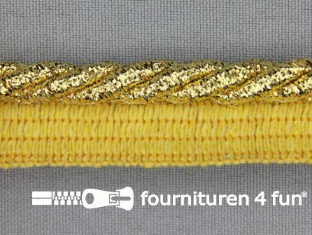 Gedraaid paspelband 18mm goud