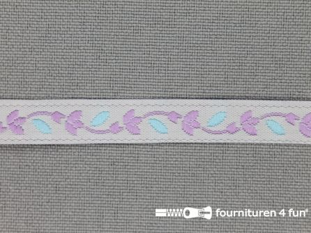 Kinderband 7mm pastel blauw - lila
