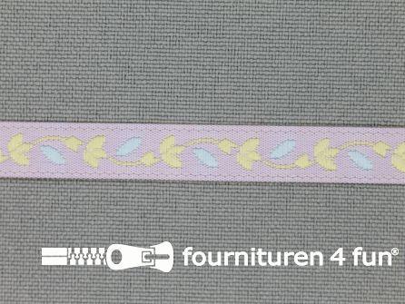 Kinderband 7mm pastel lila - geel